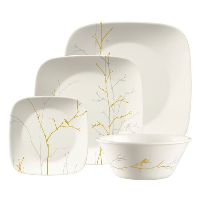 Gilded Woods 4-pc Square Place Setting