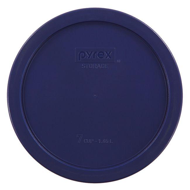 6 & 7 Cup Round Plastic Lid, Dark Blue