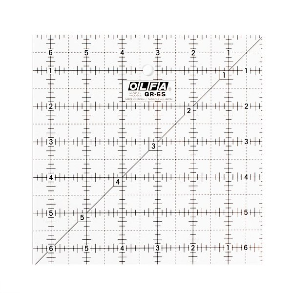 6-1/2″ Square Frosted Acrylic Ruler (QR-6S)
