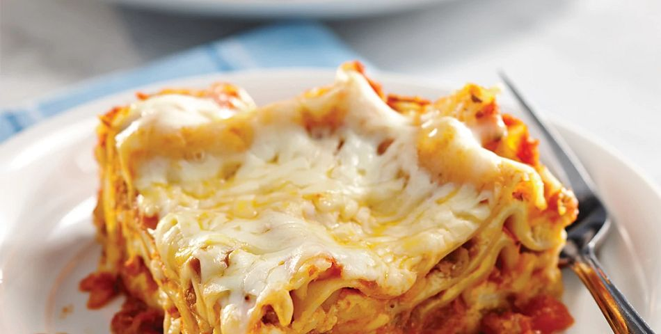 Simply Sensational Lasagna served on a white dish