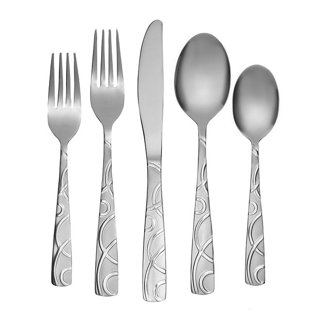Conquest Sand 45-pc Flatware Set