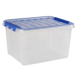 "Smart Store® 20"" x 12"" Home Storage Container with Blue Handles"