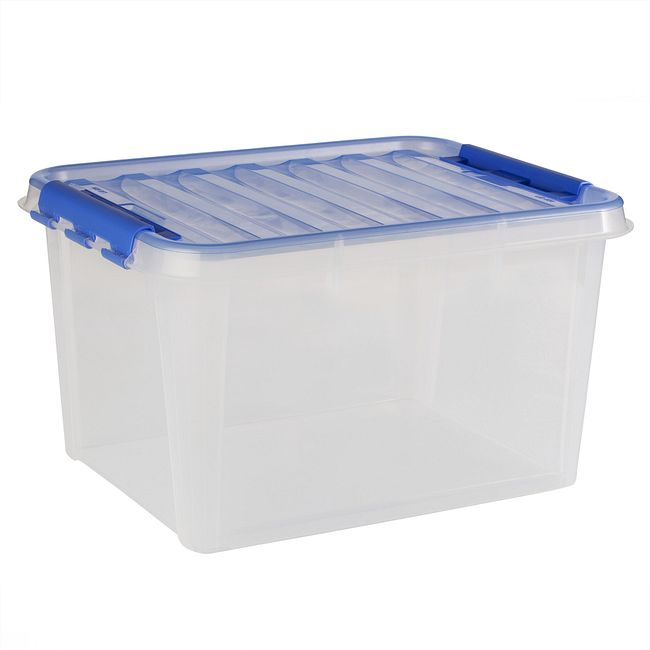 "Smart Store® 20"" x 12"" Home Storage Container w/ Blue Bell Handles"