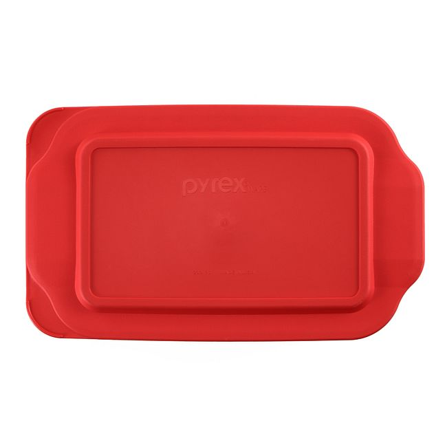 Red Lid for 2-quart Rectangular Glass Baking Dish