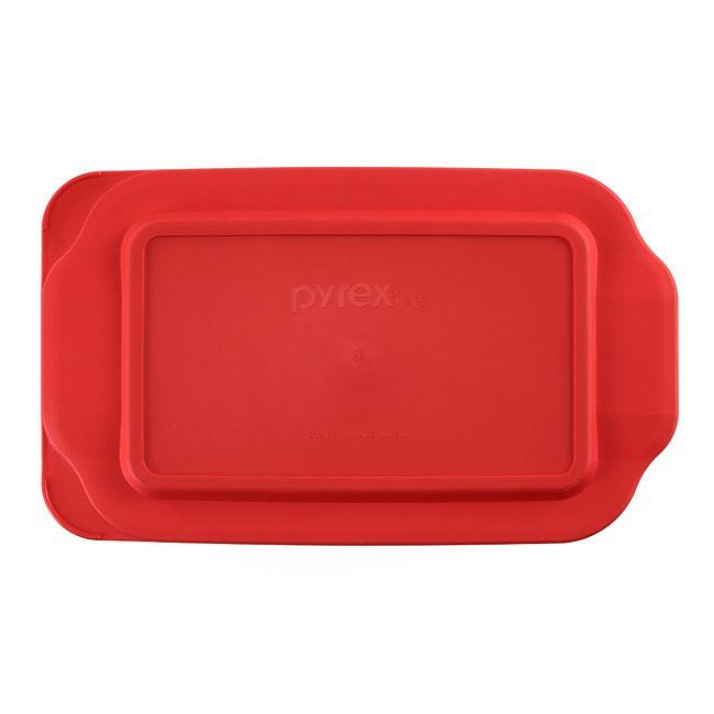 2-qt Oblong Plastic Lid, Red