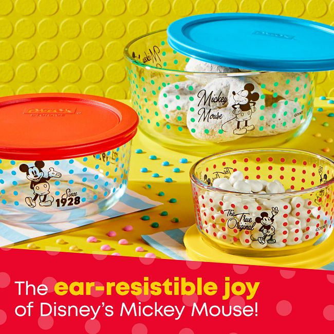 Decorated Storage 6-pc Set: The True Original Since 1928 Mickey Mouse