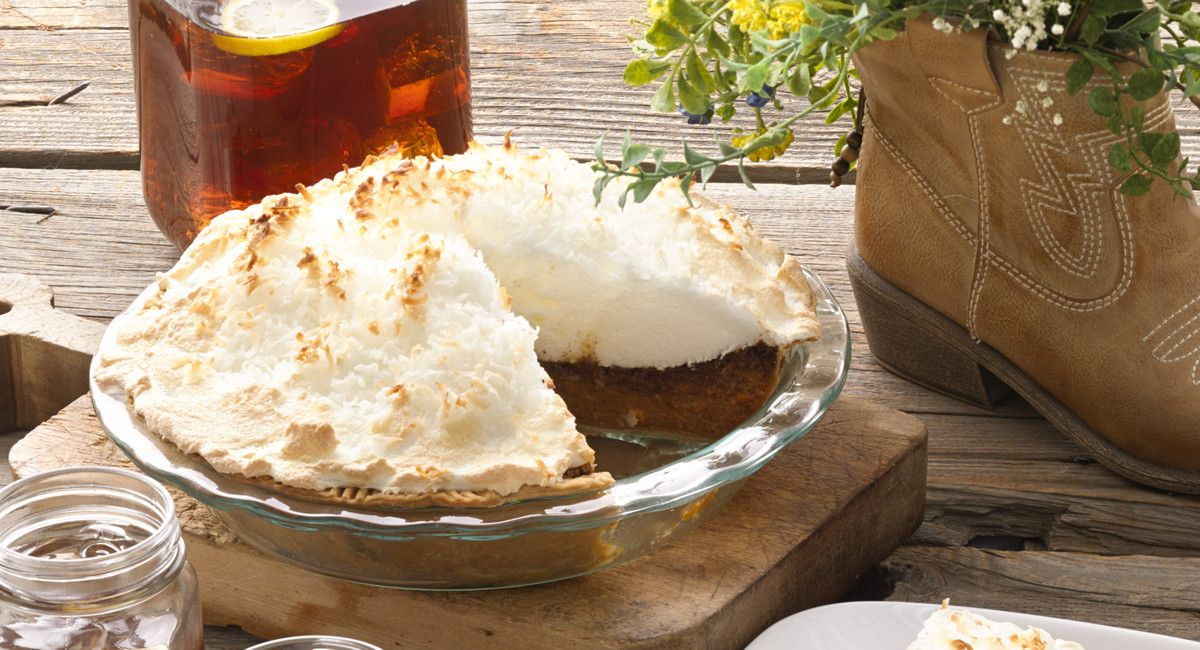 Coconut Meringue-Topped Sweet Potato Pie