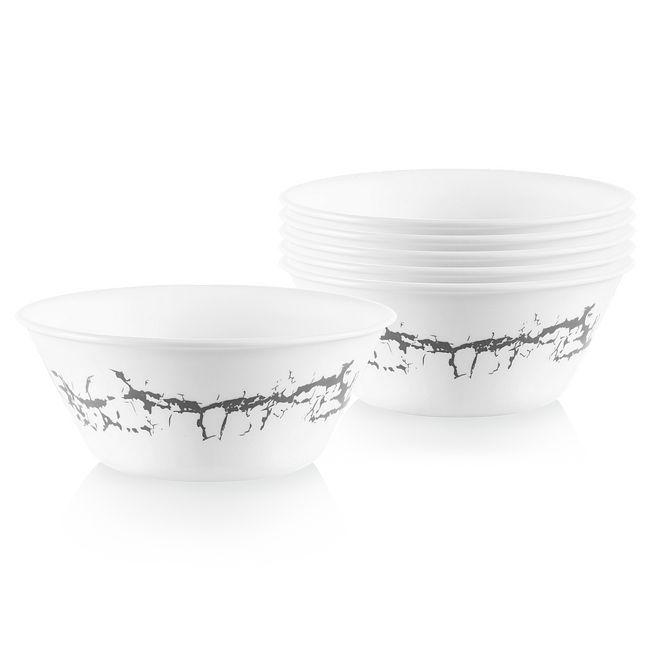 Stone Grey 21.5-ounce Medium Bowls, 6-pack