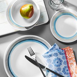 Elemental Dawn 18-piece Dinnerware Set on the table