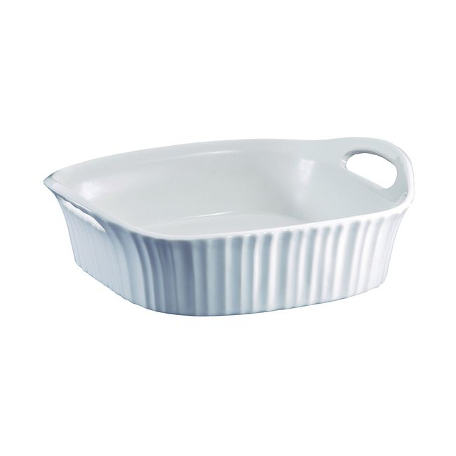 "French White III 8"" Square Baking Dish"