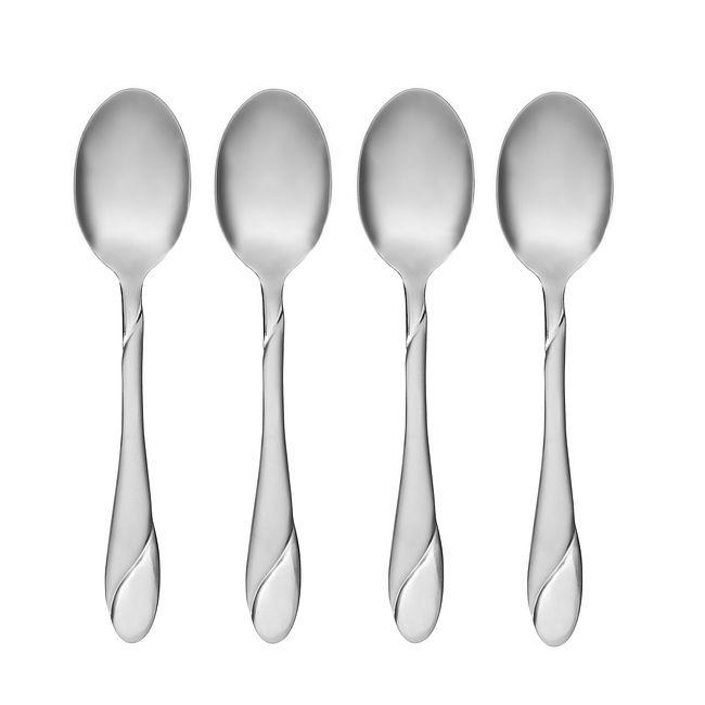 Swirl Sand 4-piece Dinner Teaspoon Set