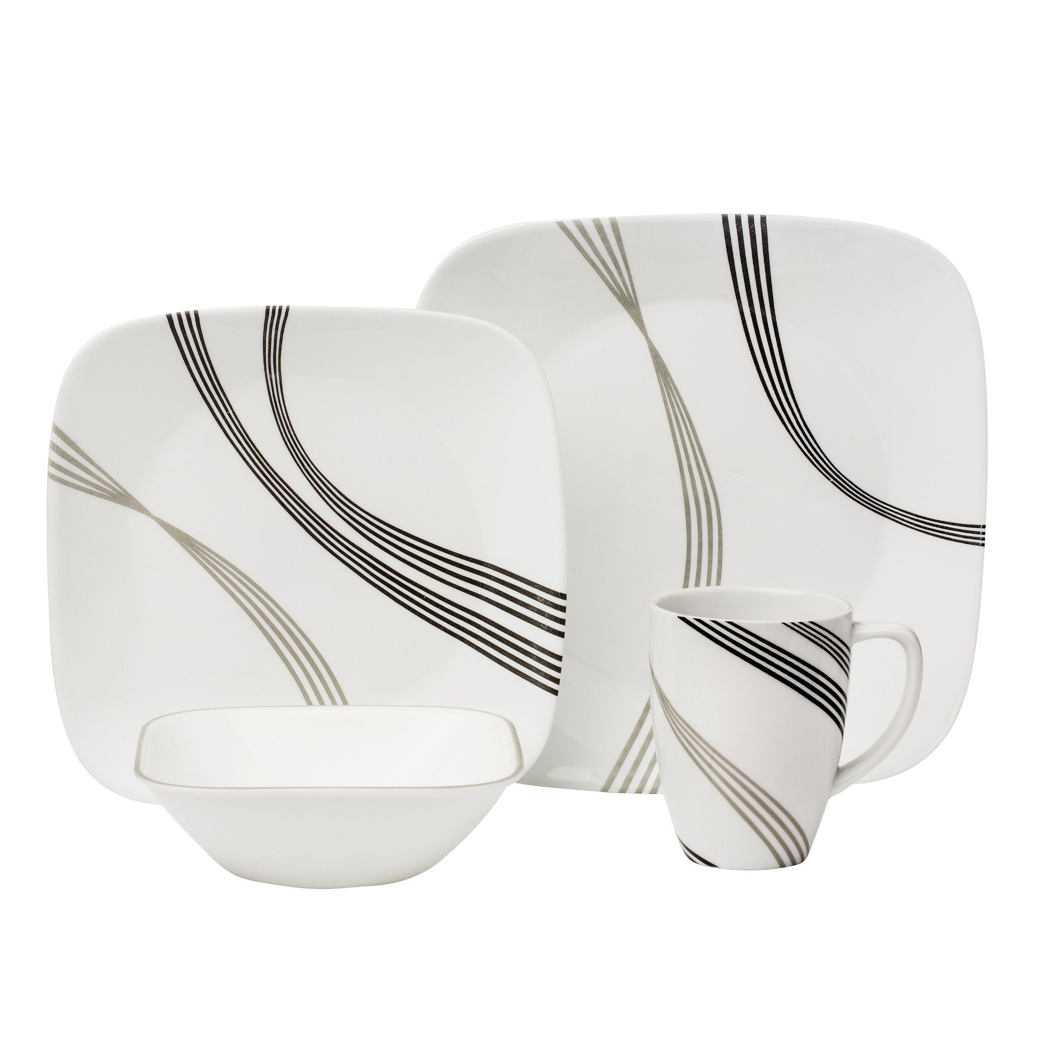 Urban Arc 16-piece Dinnerware Set, Service for 4