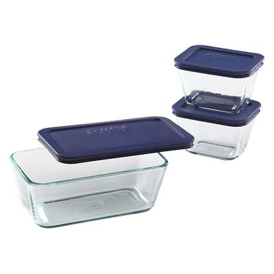Pyrex Simply Store 6-Pc Rectangle Set
