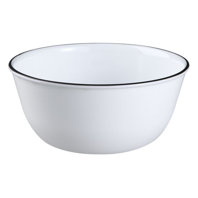 Classic Café Black 28-ounce Large Soup Bowl