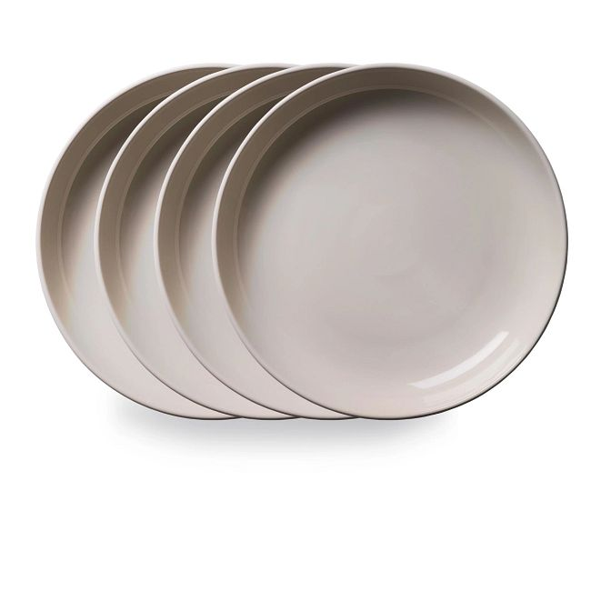 """Stoneware 8.45"""" Meal Bowls, Oatmeal, 4-pack"""
