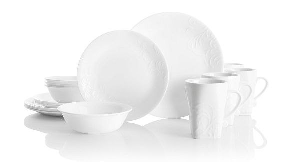 Cherish Round White Pattern Corelle