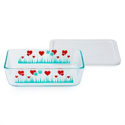 Simply Store® 6 Cup Lucky in Love Rectangle Storage Dish w/ Plastic Lid