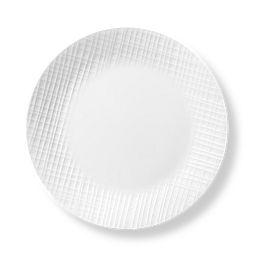 """Linen Weave 10.25"""" Dinner Plate"""