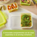 Meal Prep Divided: 5.9-cup Rectangle Storage Container, 3-Section