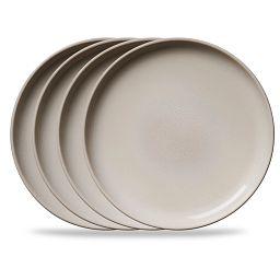 "Stoneware 10.5"" Dinner Plates, Oatmeal, 4-pack"