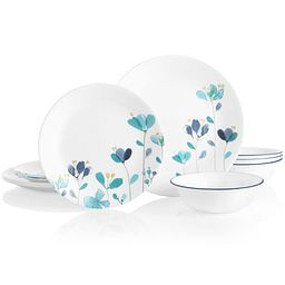 Mountain Blossoms 12-piece Dinnerware Set
