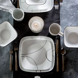 Siimple Lines 16-piece Dinnerware on the table
