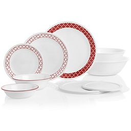 Crimson Trellis Dinnerware Set