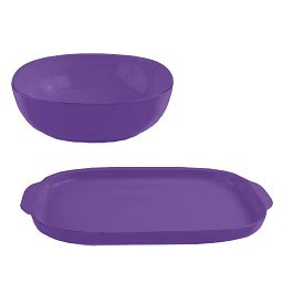 CW by Corningware Everyday Twilight 2-pc Serving Set (purple)