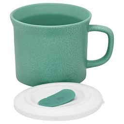 20-oz Hammered Aqua Meal Mug™ w/ Vented Lid