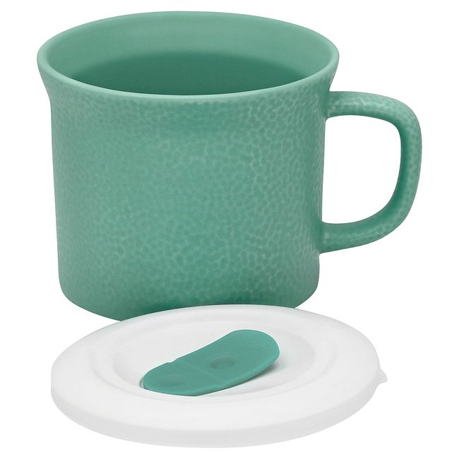 20-ounce Hammered Sage Green Meal Mug™ with Lid
