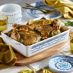Portofino 3-qt Baking Dish with baked chicken