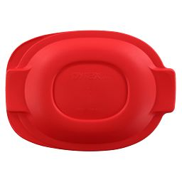 2.5-qt Oval Roaster Plastic Lid  Red