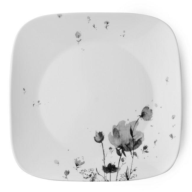 """Square Fleurs Du Soir 10.5"""" Plate"""