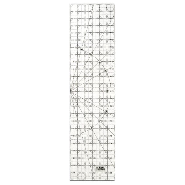 6″ x 24″ Frosted Acrylic Ruler (QR-6X24)