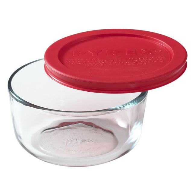 2-cup Glass Food Storage Container with Red Lid