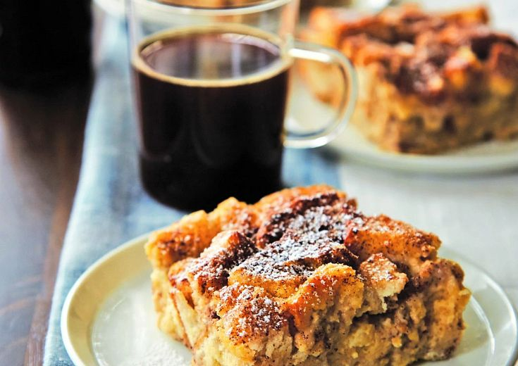 Slow Cook Maple French Toast Casserole on plate on table