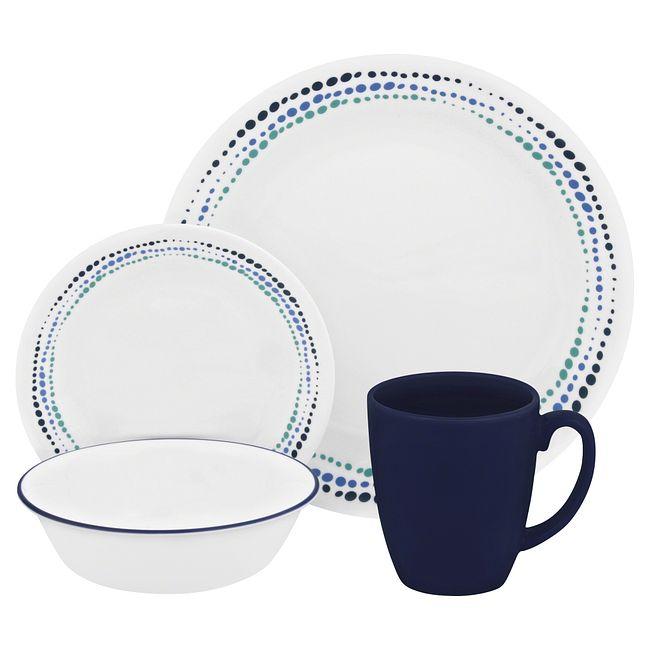 Ocean Blues 16-piece Dinnerware Set, Service for 4