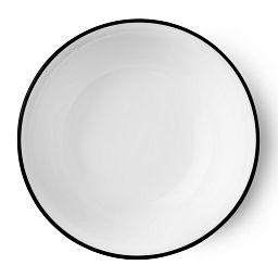 Livingware™ Beads 18-oz Bowl  Black  &  White Top View