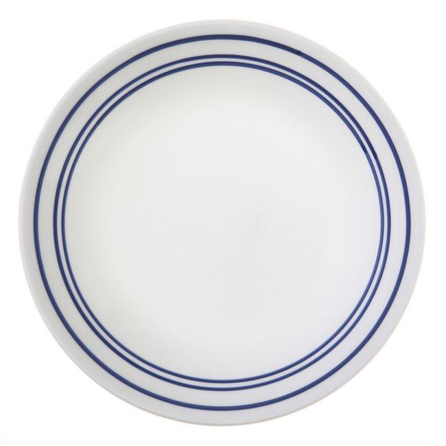 """Livingware Classic Café Blue 6.75"""" Plate"""