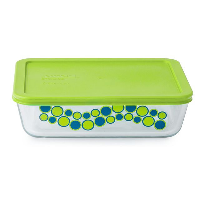 Simply Store 6 Cup Jellybean Cirque Rectangle Storage Dish w/ Cover