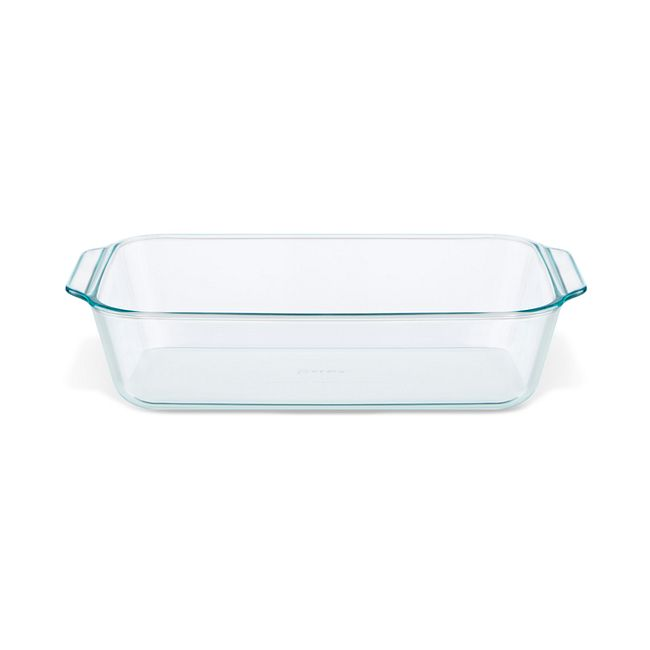 "Deep 7 x 11"" Rectangle Glass Baking Dish with Sage Green Lid"