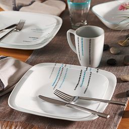 Rain Drops Dinnerware Set on the table