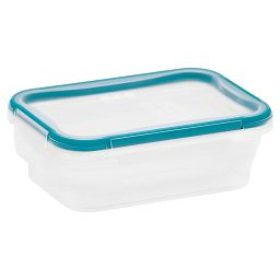 Total Solution™ Plastic Food Storage 3.01 Cup  Rectangle with lid on