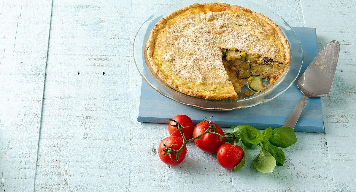 Zucchini, Corn and Portabella Pie
