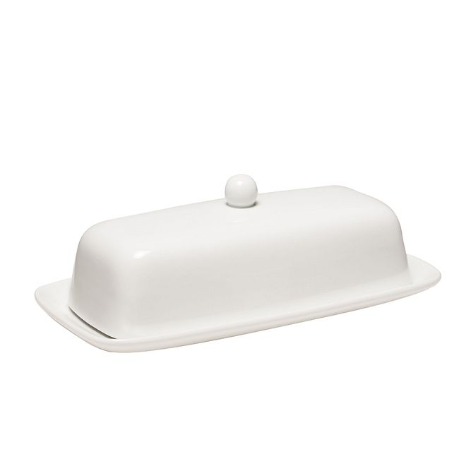 White Butter Dish