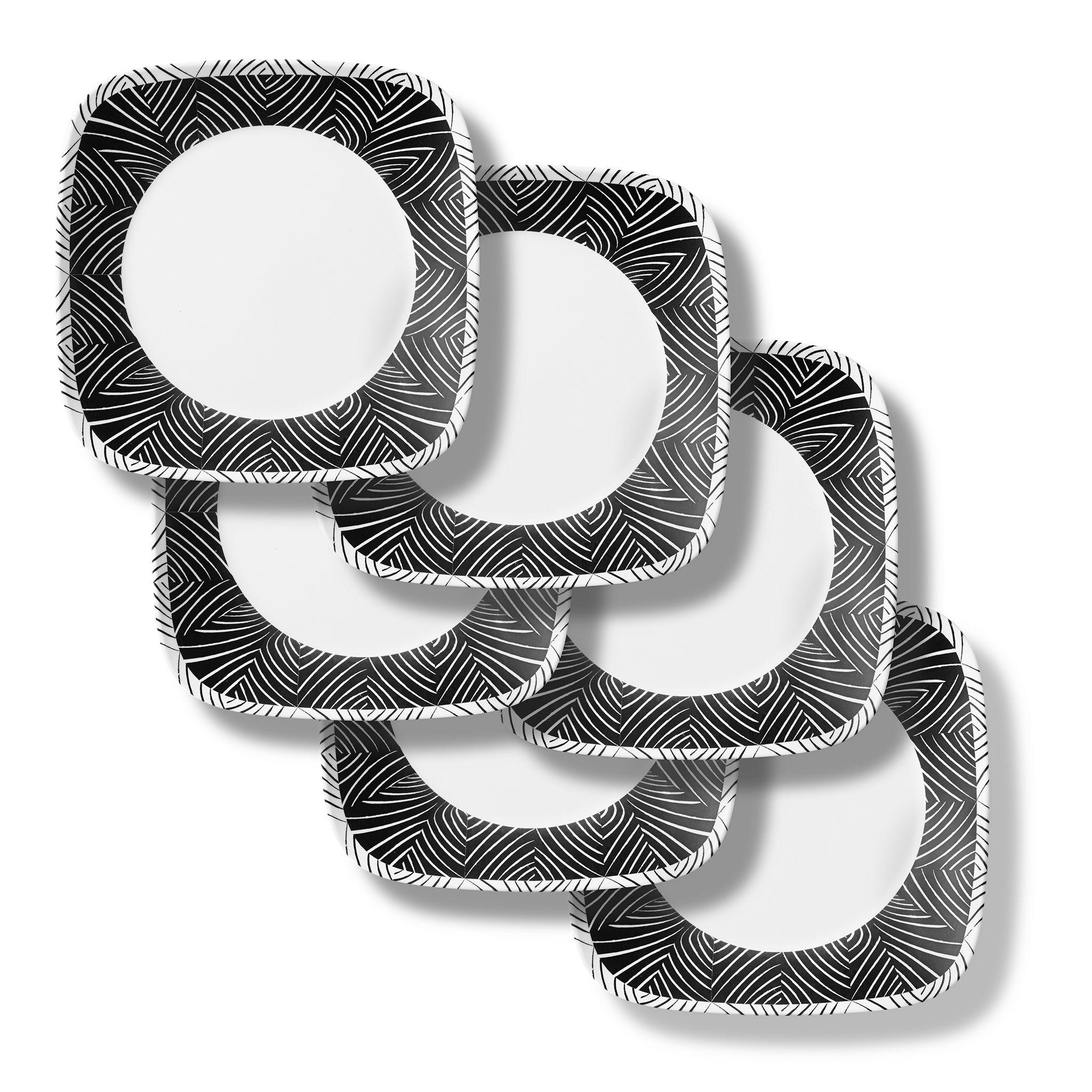 Imani Square 10.5? Dinner Plates, 6-pack