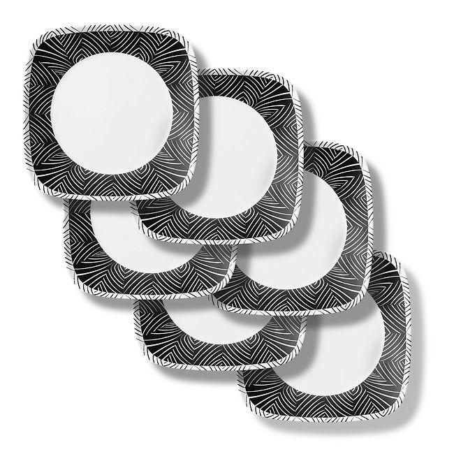 "Imani Square 10.5"" Dinner Plates, 6-pack"