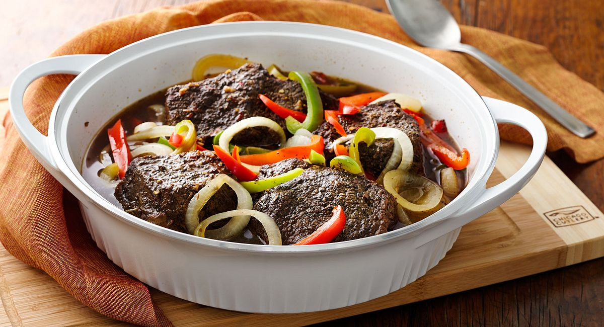 Braised Balsamic Herbed Beef and Vegetables