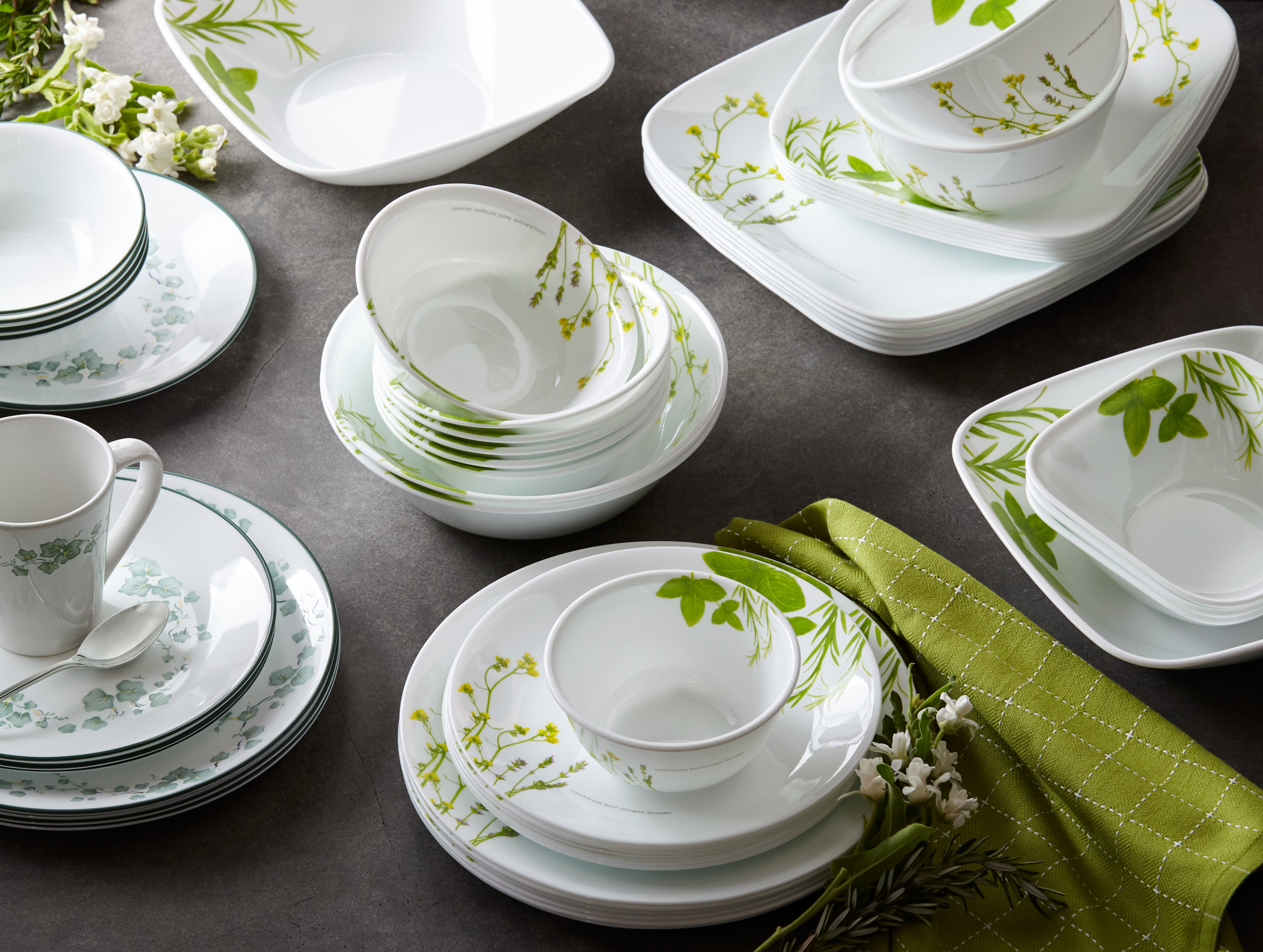 Green Dinnerware Patterns Corningware