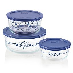 Simply Store 6-pc 4 Prairie Garden Round Storage Set